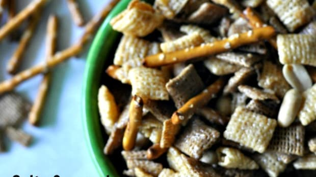Salty Caramel Chex Mix - Title