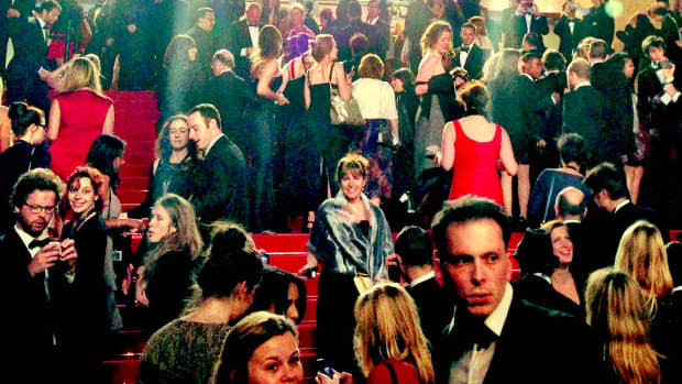 bright lights on the red carpet