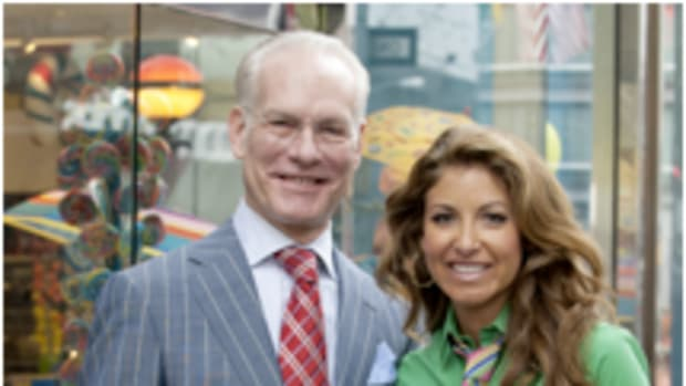 Project Runway mentor Tim Gunn and Dylan Lauren