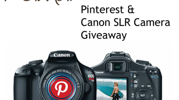TodaysMama Pinterest Canon DSLR Camera Giveaway