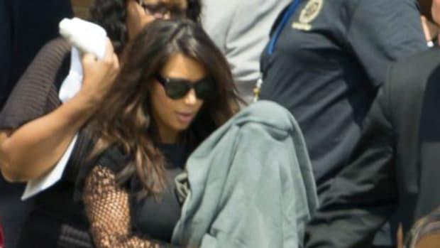kim kardashian attends funeral