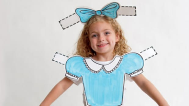 Paper Doll Costume from Family Fun