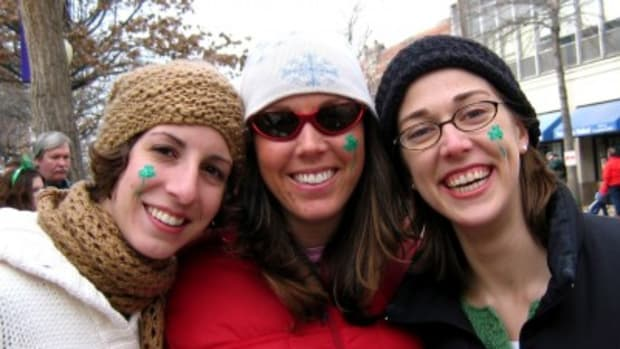Circa 2005 with friends Leslie and Molly