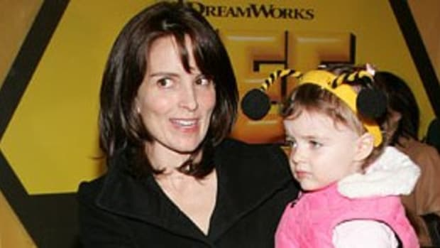 Tina Fey with daughter