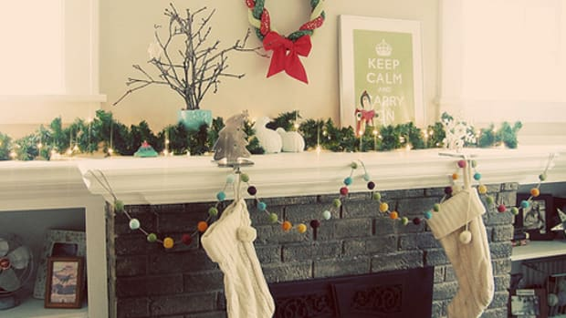 felted Christmas garland