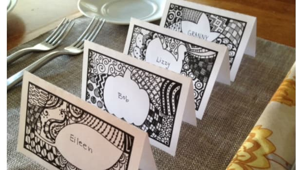 Printable Zendoodle Thanksgiving Place Cards