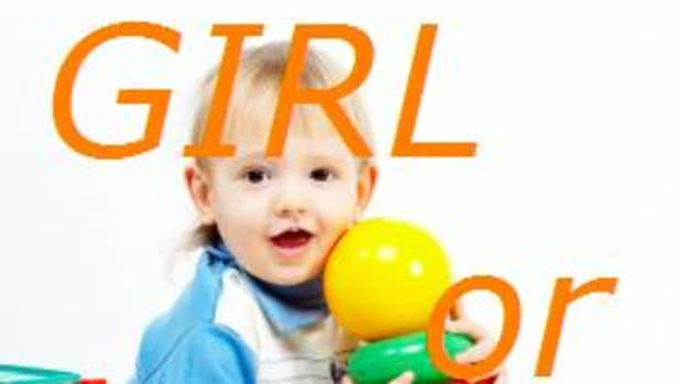 girl or boy with toy