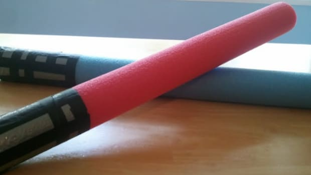 pool noodle lightsaber