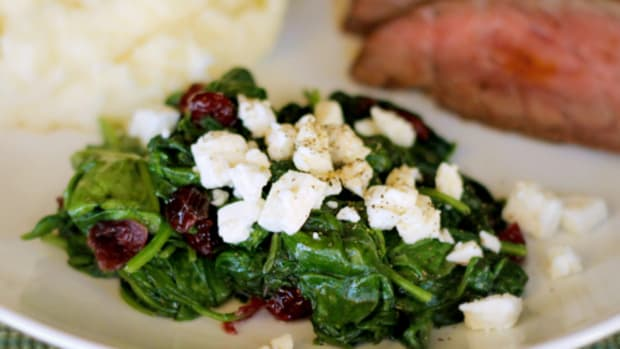 spinach-with-cranberries