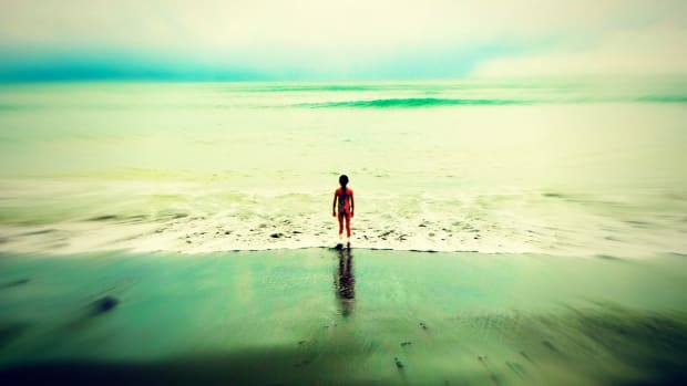 Little Girl Big Ocean Costa Rica