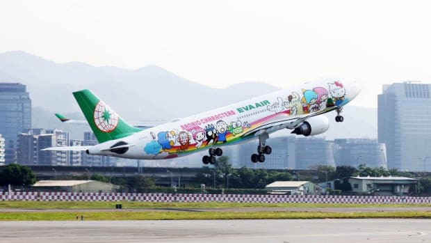 EVA Air's Hello Kitty plane (Courtesy EVA Air)
