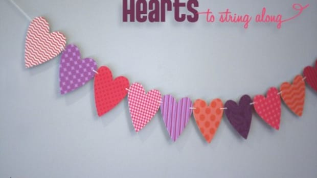 heart printable template_garland