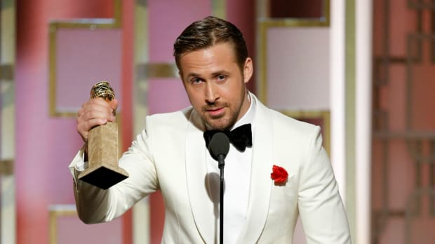 Ryan Gosling at the Golden Globes
