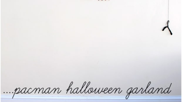 Halloween pacman garland, easy, inexpensive decor