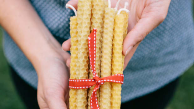 Mother's Day Beeswax Candles