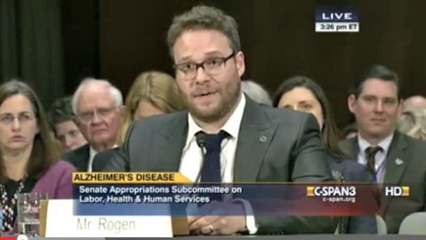Knocked Up's Seth Rogen Gives Heartfelt, Hysterical Speech To Senate www.TodaysMama.com #Alzheimers