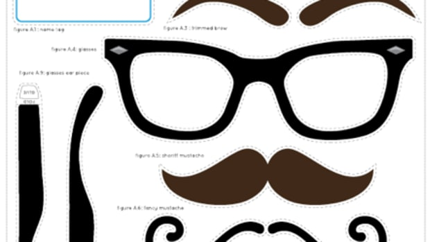 mustache and disguise kit printable