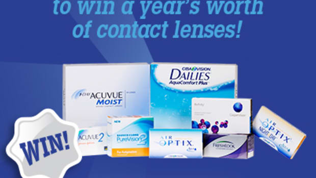 Win a year's worth of contact lenses!