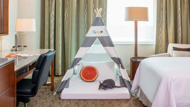 The Westin Hotels & Resorts' indoor camping amenity is one of the best hotel amenities for kids. (Courtesy Westin Houston Memorial City)