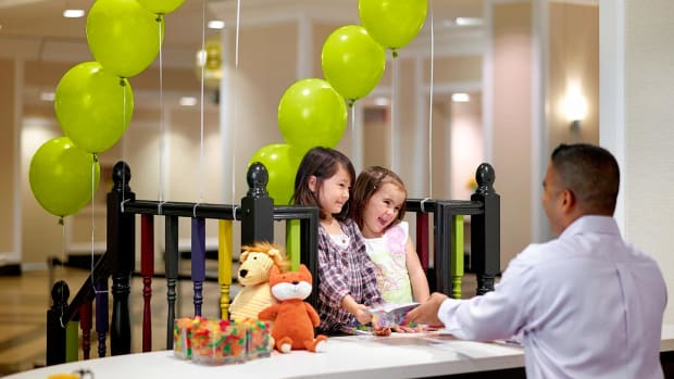 Young guests enjoying a special kids' check-in at The Chelsea Hotel. (Courtesy The Chelsea Hotel)