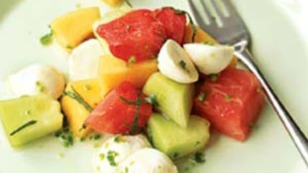 Three Melon Mozzarella Salad Real Simple