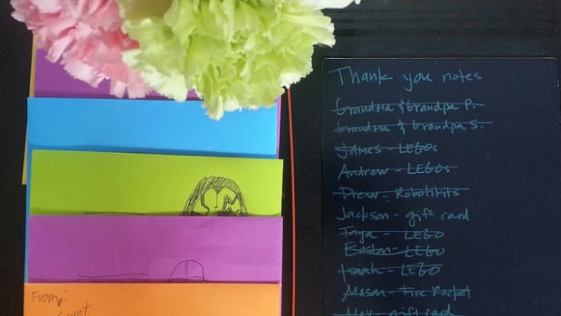 Boogie Board Thank You's