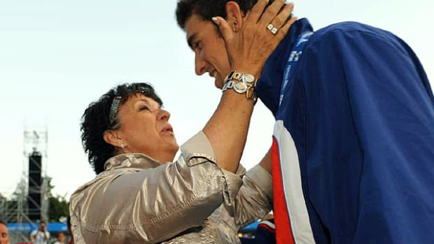Michael Phelps and Mom, Debbie. Photo by Heinz Kluetmeier for Sports Illustrated