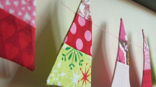 Christmas tree garland tutorial