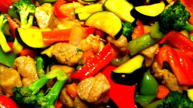 Teriyaki Pork Stir Fry with Zucchini