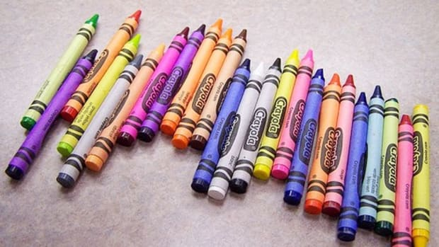 Crayons and back to school supplies