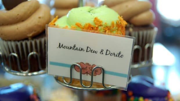 Mountain Dew Dorito Cupcake
