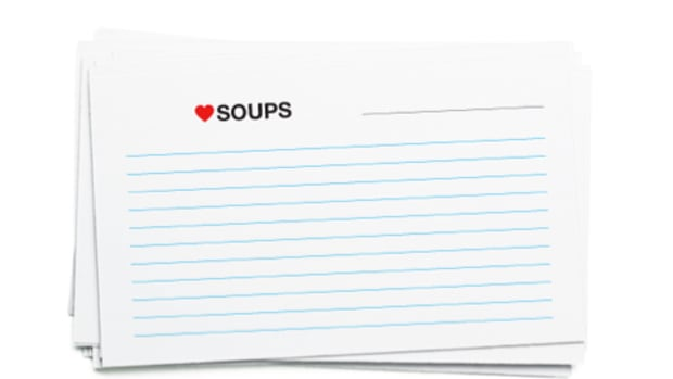Recipe Card printable for soups