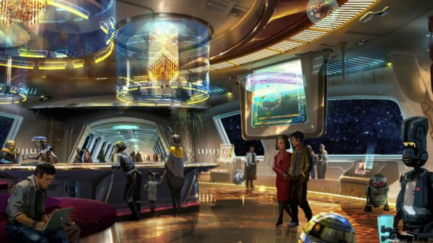 Bob Chapek announced Star Wars: Galaxy's Edge as the name of the previously untitled Star Wars-themed land coming to Disney's Hollywood Studios. (Courtesy Disney Parks)
