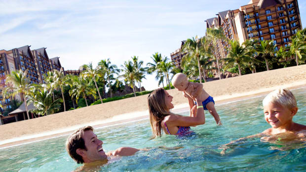 Beachfront Aulani is the ultimate resort for families visiting Oahu. (Courtesy Disney)