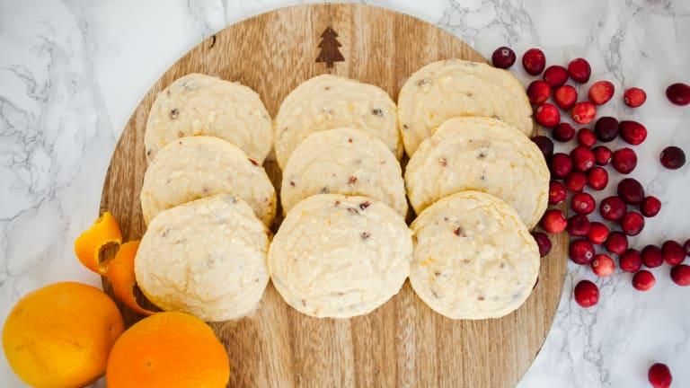 Cranberry Orange Cake Mix Cookies