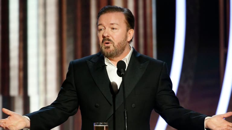 At the Golden Globes, Ricky Gervais Exposes Hollywood's 'Woke' Culture