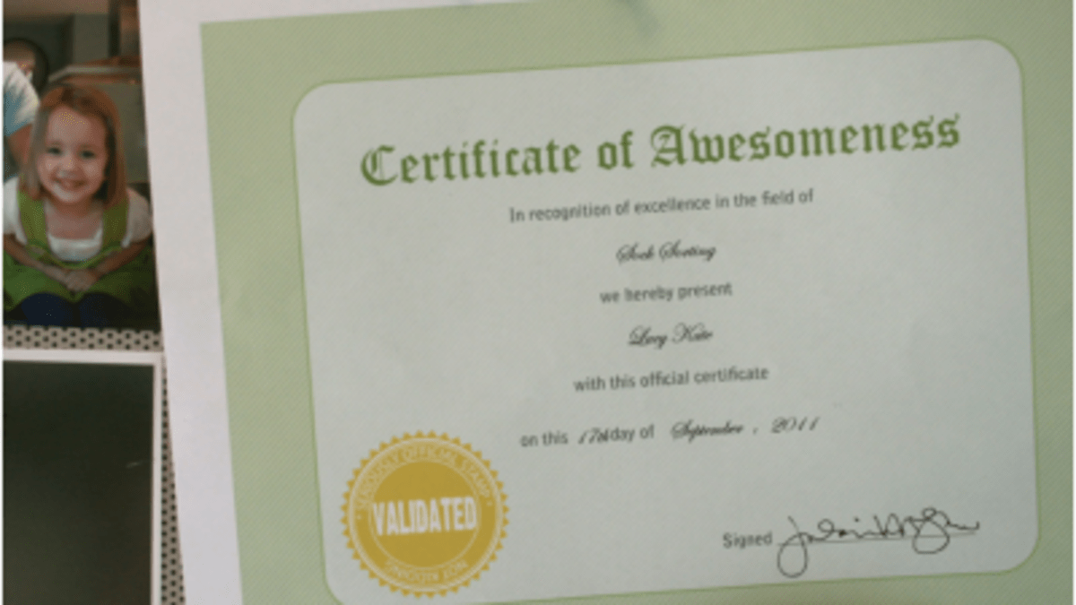 Printable Certificate Of Awesomeness Today S Mama