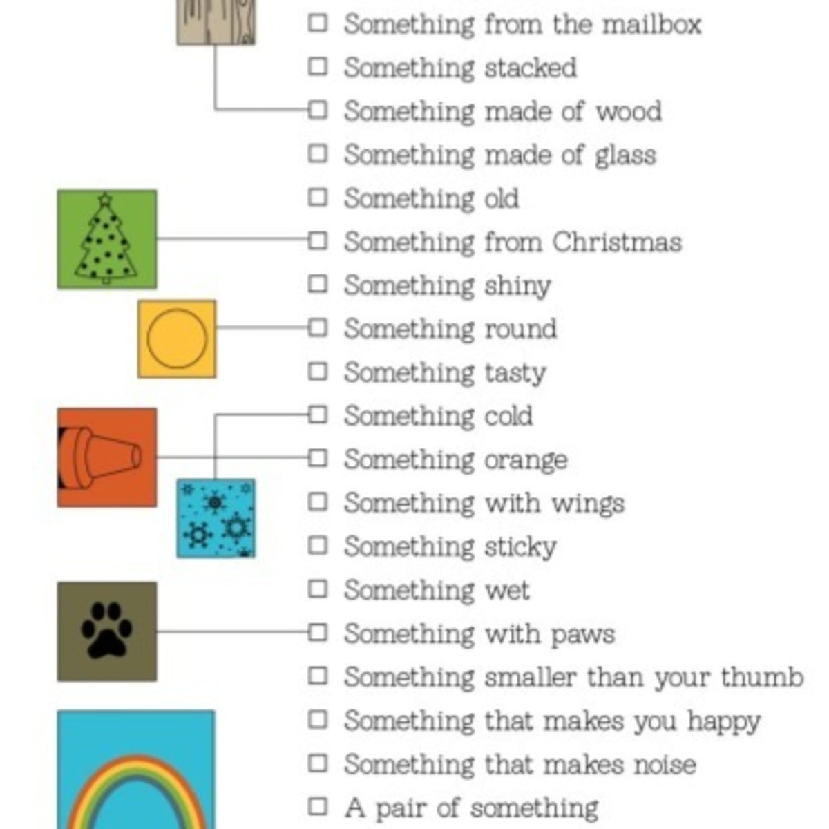 It's just a graphic of Printable Scavenger Hunt for Kids within themed