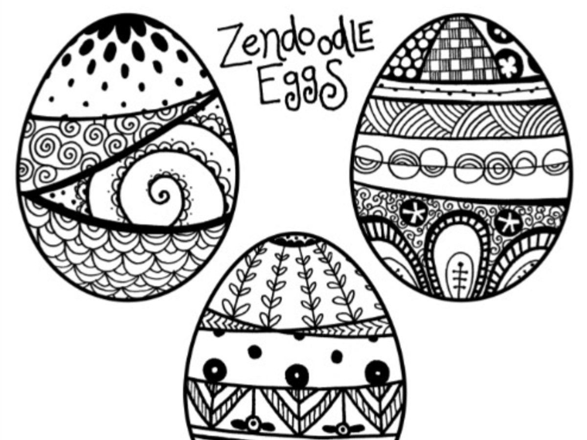 Zendoodle Easter Egg Coloring Pages Today S Mama