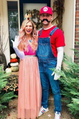 Mario Princess Peach Halloween Costume