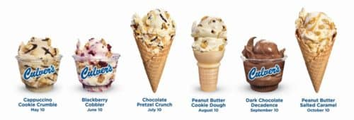 mark your calendar—new flavors are coming to culver's