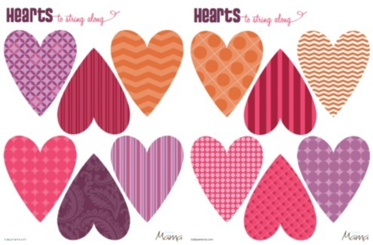 Heart Printable Template for Valentine's Day - Today's Mama
