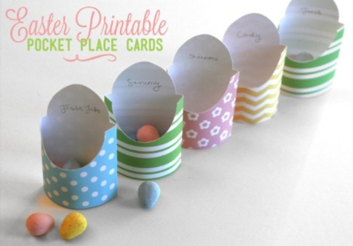 picture regarding Easter Place Cards Printable referred to as Easter Printable Pocket Position Playing cards - Todays Mama