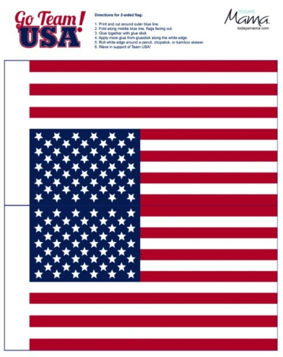 photograph about Printable Usa Flag called Staff United states 2012 Medal and United states of america Flag Printable - Todays Mama
