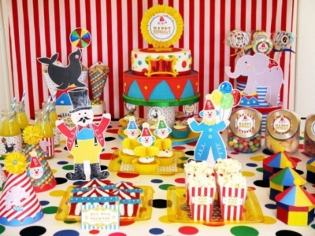Polka Dot Afro Madagascar 3 Circus Party Ideas