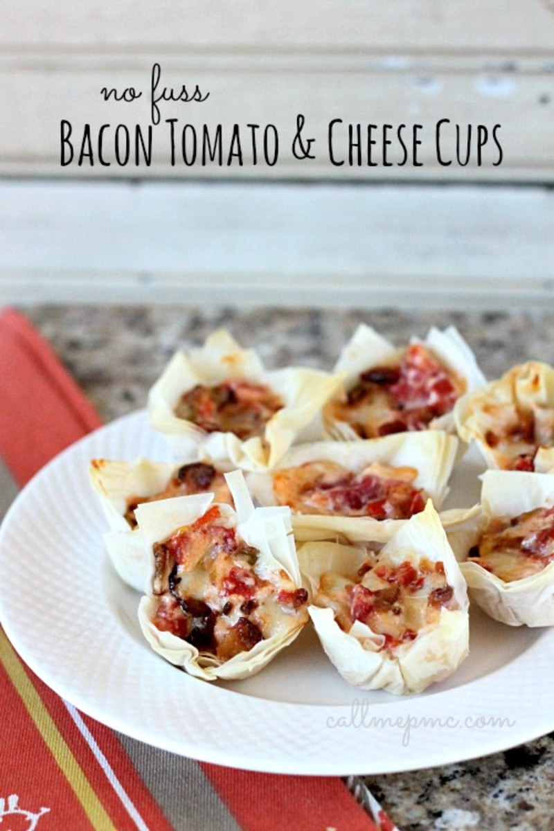 Bacon Tomato and Cheese Cups | Call Me PMc