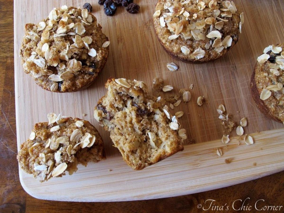 Apple Raisin Whole Wheat Muffins | Tina's Chic Corner