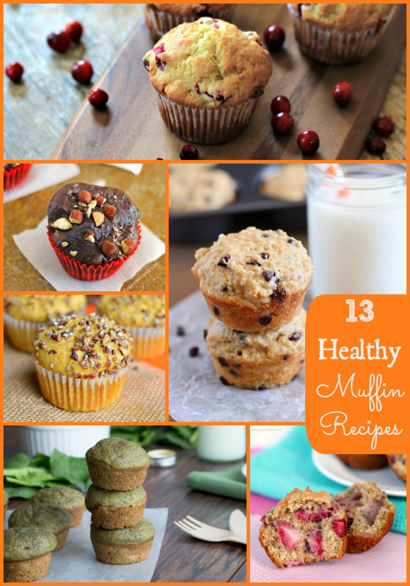 healthy muffin collage