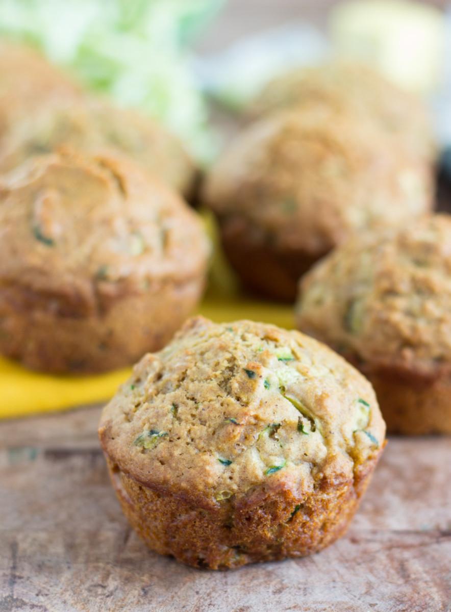 Healthy Zucchini Bread Muffins | Chelsea's Messy Apron