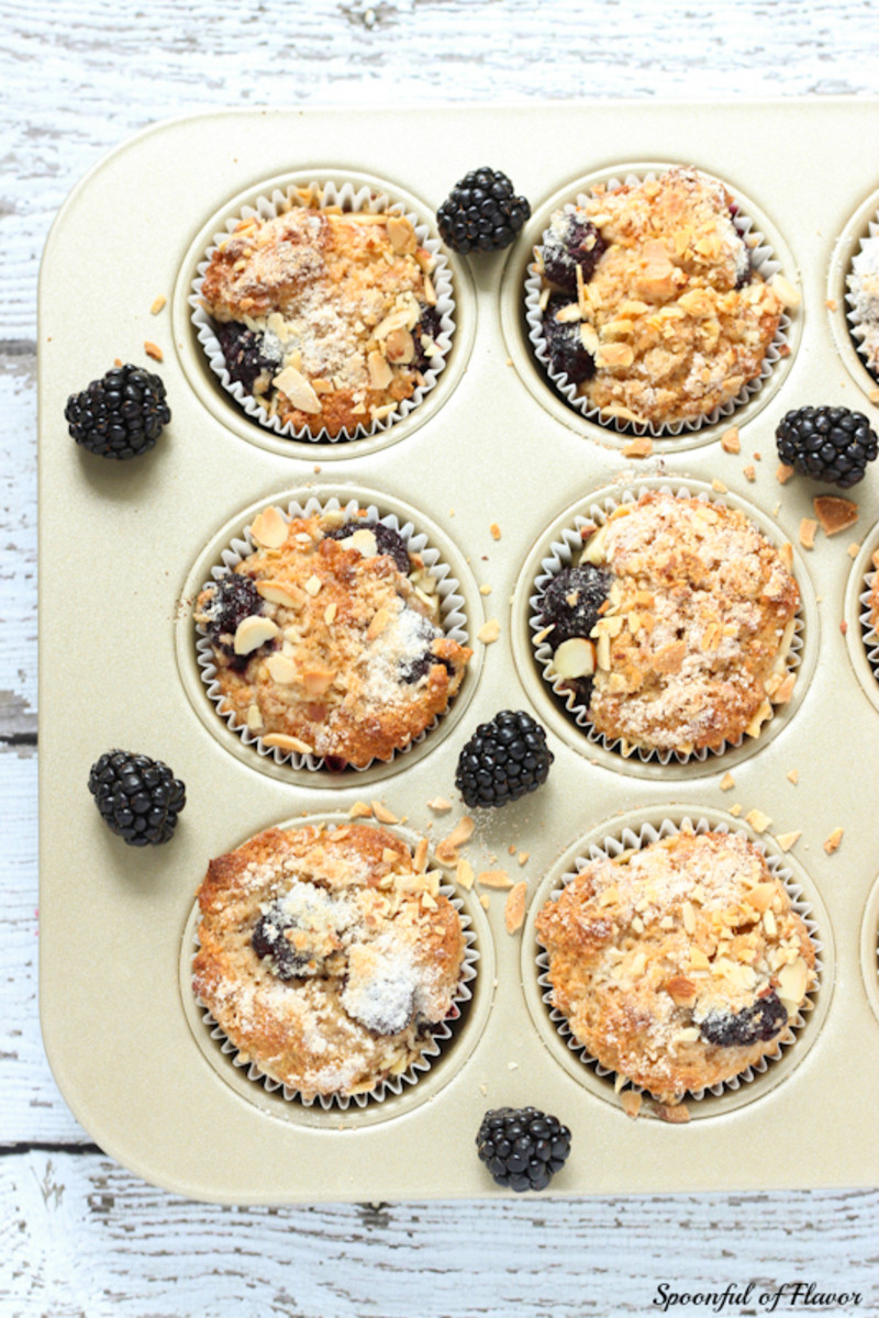 Blackberry Muffins | Spoonful of Flavor